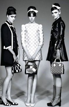 1960's fashion - twiggy look for mary quant london