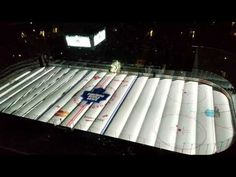 On Ice Projection before a Toronto Maple Leafs hockey game Hockey Baby, Air Hockey, Hockey Games, Hologram Projection, Projection Mapping, Phil Kessel, Caps Game, Maple Leafs Hockey, Air Canada Centre