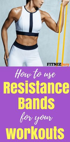 trainingsplan muskelaufbau How to use resistance bands for your workouts. Fitness Workouts, Fun Workouts, At Home Workouts, Fitness Tips, Health Fitness, Resistance Band Training, Resistance Band Exercises, Strength Training, Training Plan
