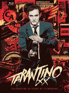 Tarantino XX Film Collection on Blu Ray. It includes eight films he chose (and we think are awesome): Reservoir Dogs, True Romance, Pulp Fiction, Jackie Brown, Kill Bill Vol. Kill Bill Vol. Death Proof and Inglorious Basterds. Jackie Brown, Reservoir Dogs, Pulp Fiction, Death Proof, Kill Bill, Rock Poster, Gig Poster, Ken Taylor, Quentin Tarantino Films