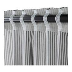 IKEA - GULSPORRE, Rideau, 2 panneaux, , Les rideaux filtrent la lumière et protègent l'intimité.S'accroche à une tringle à rideaux ou à une tringle-rail.À suspendre à une tringle par les passants dissimulés ou à l'aide d'anneaux et de crochets.Le ruban du bord supérieur vous permet de froncer facilement le rideau suspendu à l'aide des crochets RIKTIG.