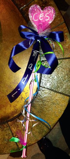 Spirit stick for cheer competition..for my little ones! So cute