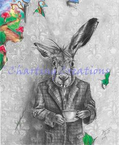 alice in wonderland evil rabbitt drawings google