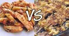 Πένες με φιλέτο Κοτόπουλο ή Ρολάκια Μελιτζάνας με μοσχαρίσιο κιμά? Εσείς τι προτιμάτε?… Steak, Pork, Pork Roulade, Pigs, Steaks