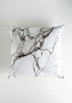 Take Nothing for Granite Pillow in Grey. You have much to be thankful for - friends, family, and decor as fabulous as this marbled pillow! #grey #modcloth