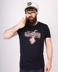 Hafendieb Unisex T-Shirt - Logo, dunkelblau Textiles, Unisex, Logos, Captain Hat, Navy, Style, Fashion, Women's T Shirts, Dark Blue