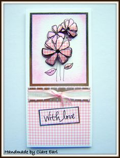 Published as a tutorial in Craft Stamper Magazine April 2010    http://mypurrfectworldccc.blogspot.co.uk/