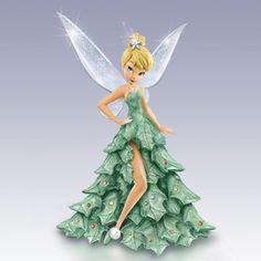 Disney Tinker Bell Figur im funkelnden Weihnachtsbaumkleid Tinkerbell And Friends, Tinkerbell Disney, Peter Pan And Tinkerbell, Tinkerbell Fairies, Disney Fairies, Disney Magic, Walt Disney, Disney Love, Disney Pixar