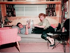 Great movie...The Long, Long Trailer with Lucille Ball and Desi Arnaz.  (Thank you to the blog, Cote de Texas for reminding me of that one!)