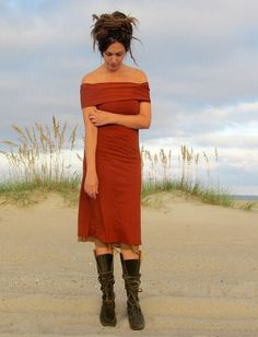 Gaia Conceptions Organic Clothing - Nomad Below Knee Dress, $145.00 (http://www.gaiaconceptions.com/nomad-below-knee-dress/)