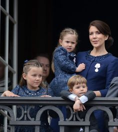Crown princess Mary and family