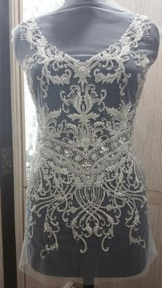 9098b7901 Hand Beaded and Embroidered WEDDING DRESS Bodice In Over 50 Styles - SOPHIA