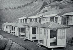 Photograph - Women's shelters at the Cashmere Sanatorium which opened in 1910 , Christchurch City Libraries Heritage Photograph Collection Christchurch New Zealand, Auckland New Zealand, Nz History, Local History, City Library, Large Windows, Luxury Travel, Shed, Shelters