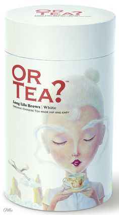Close up on Or Tea? Long Life Brows /white. Rather odd but nice graphics on the packaging PD