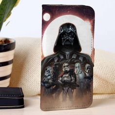 Darth Vader and Storm Troopers | Star Wars | Movie | CUSTOM PERSONALIZED WALLET FOR IPHONE 4/4S 5 5S 5C 6 6 PLUS 7 CASE AND SAMSUNG GALAXY S3 S4 S5 S6 S7 CASE - SYXZC