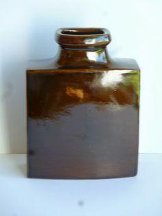 Knabstrup, Danmark rektangulær vase h:24,5cm 200kr