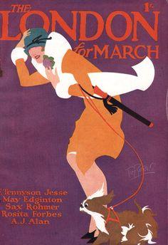 The London Magazine March 1927 Tom Purvis Vintage Book Covers, Vintage Magazines, Illustration Art Nouveau, Graphic Illustration, Vintage Advertisements, Vintage Ads, Art Vintage, Illustrator, Retro Poster