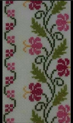 This Pin was discovered by Ada Cross Stitch Bird, Cross Stitch Borders, Cross Stitch Flowers, Cross Stitch Designs, Cross Stitching, Cross Stitch Patterns, Diy Embroidery, Cross Stitch Embroidery, Embroidery Patterns