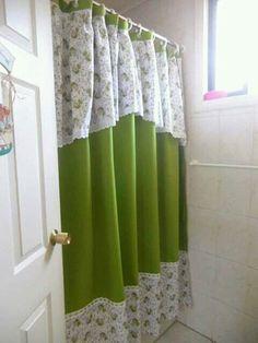 Cortina para baño Bathroom Crafts, Window Treatments, Ideas Para, Diy Crafts, House, Valances, Color Azul, Design, Home Decor