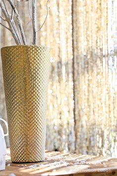Hang beaded garland in front of windows to catch and reflect the beautiful winter rays.