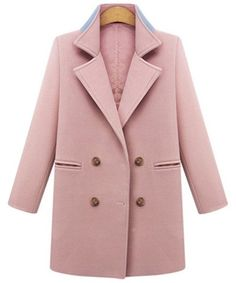 Amazing Solid Straight Double Breasted Patchwork Pocket Woolen Coat on Newchic, here you can totally find a special and comfortable plus size outerwear to brighten you up! Plus Size Outerwear, Plus Size Coats, Winter Jackets Women, Coats For Women, Red Wool Coat, Red Coats, Women's Coats, Trench Coats, Casual Party