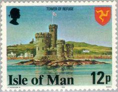 Sello: Tower of Refuge (Isla de Man) (Buildings) Mi:IM 113A,Yt:IM 106(B),AFA:IM 106