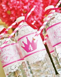 Colorful Disney Princess Party Ideas: Royal water
