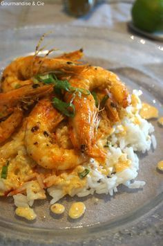 crevettes au curry Shrimp Recipes, Risotto, Meal Prep, Buffet, Food And Drink, Nutrition, Meals, Chicken, Cooking