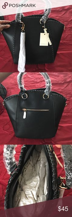 ae5b3207f6e2 Isabelle Vegan Friendly Handbag Stylish and large black handbag. One large  section for your goodies