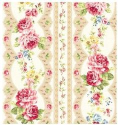 Items similar to Kilala Antique Roses cotton Fabric by QH Textiles pink roses and taupe lace on cream on Etsy Decoupage, Fabric Roses, Material Girls, Room Wallpaper, Vintage Paper, Flower Patterns, Pattern Flower, Scrapbook Paper, Pink Roses
