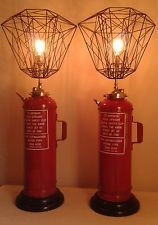 Fire extinguisher lamps