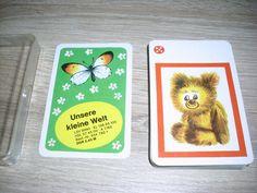 Unsere kleine Welt Quartettspiel ab 3 Jahre unbespielte Karten Altenburg DDR