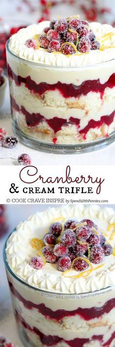 CRANBERRY TRIFLE RECIPE | Mom's Food Recipe