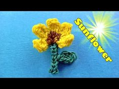 Rainbow Loom: SUNFLOWER Charm (by my 6 year old daughter) Design / Tutorial - YouTube