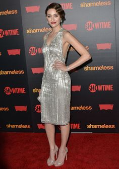 Emmy Rossum Adds 20's Glamour To Shameless Premiere | Real Style Network – Fashion and Style