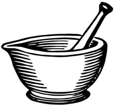 Free Vector Art: Mortar and Pestle