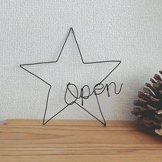 ワイヤー壁飾り(お星さま:Open) #ワイヤークラフト#ワイヤーアート #壁飾り#カフェ風 #カフェ風インテリア