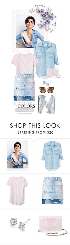"""""""SWEET CANDY COLORS"""" by shortyluv718 ❤ liked on Polyvore featuring J.Crew, Rails, Gap, NIKE, Dsquared2, Chanel, Serfontaine and Erdem"""