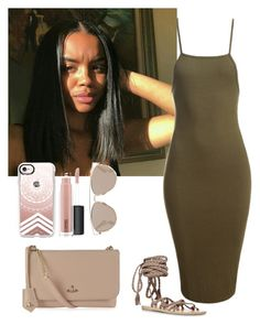 """""""₩"""" by blended-try on Polyvore featuring Sans Souci, Ancient Greek Sandals, Casetify, MAC Cosmetics, Christian Dior and Vivienne Westwood"""