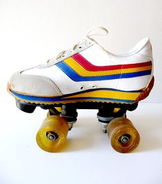 Retro Rainbow // Color of the Week is YELLOW! Bounce....Skate! {@Monica Reese - thought of you when i saw this}