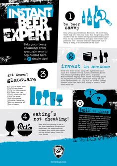 INFOGRAPHIC - Become an instant beer expert in 5 simple steps. Take your beery knowledge from zymurgic zero to hop-fuelled hero in 5 steps!