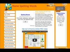 Home Spelling Words, Free Spelling Games, Tests & Lists