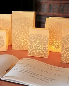 The Everyday Bride: luminaries, luminaria, paper lanterns, whatever you may call them…