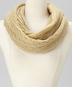 Take a look at this Taupe Infinity Scarf on zulily today!