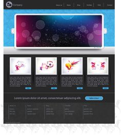 simple web design template vector material two research website
