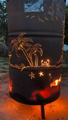Custom Fire Pit, Recycling, Plasma Cutting, Nice Ideas, Table Lamp, Lighting, Projects To Try, Pretty Lights, Scubas