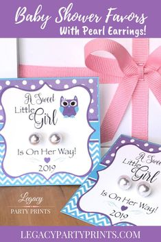 Owl Baby Shower Favors With White Pearl Earrings Baby Shower Favors, Baby Shower Parties, Baby Shower Decorations, Baby Shower Invitations, Bridal Shower, Shower Party, Unique Party Favors, Unique Baby Shower, Baby Owls