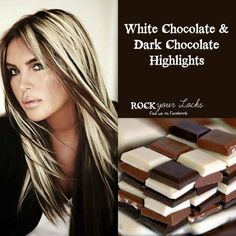 Chocolate and Blonde Highlights - Hair Colour Inspiration ♡ Rock your Locks