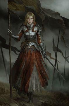 Fantasy Female Warrior, Female Armor, Female Knight, Fantasy Armor, Fantasy Women, Dungeons And Dragons Characters, Dnd Characters, Fantasy Characters, Fantasy Character Design
