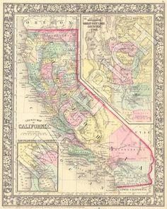130 Best Vintage Maps Of Ca Images Vintage Cards Vintage Maps